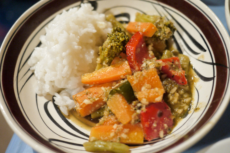 A Thai curry friends here in San Pancho made for potluck night.