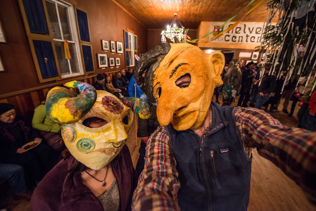 Fasnacht; Helvetia; West; Virginia; photo; Gabe; DeWitt; February; 2015; 364; Dance Hall; Events; Fasnacht; Favorite things; Gabe DeWitt; Helvetia; Helvetia Restoration and Development Organization; People; Places; Revelers; Seasons; Square Dance; Tara Smith; West Virginia; Winter; community; friends; masks; mountains; photo by Gabe DeWitt