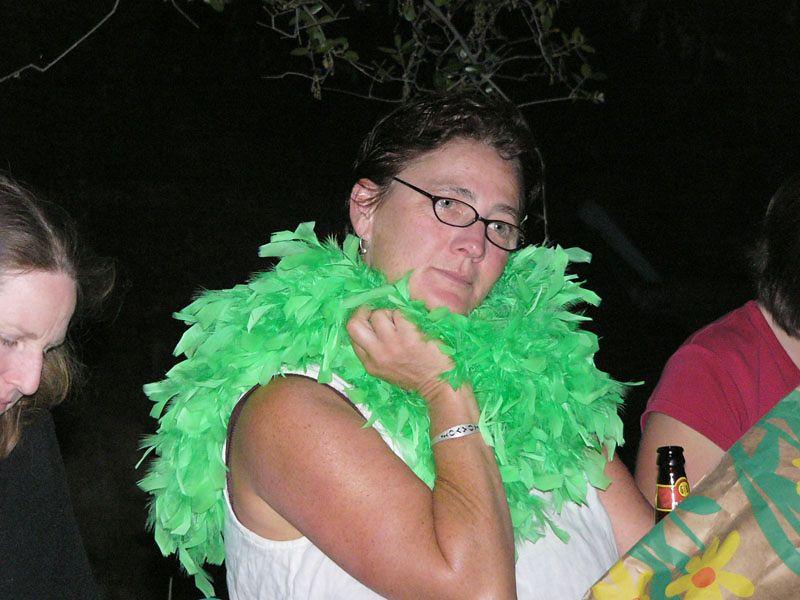 Lori and the green feathe boa...