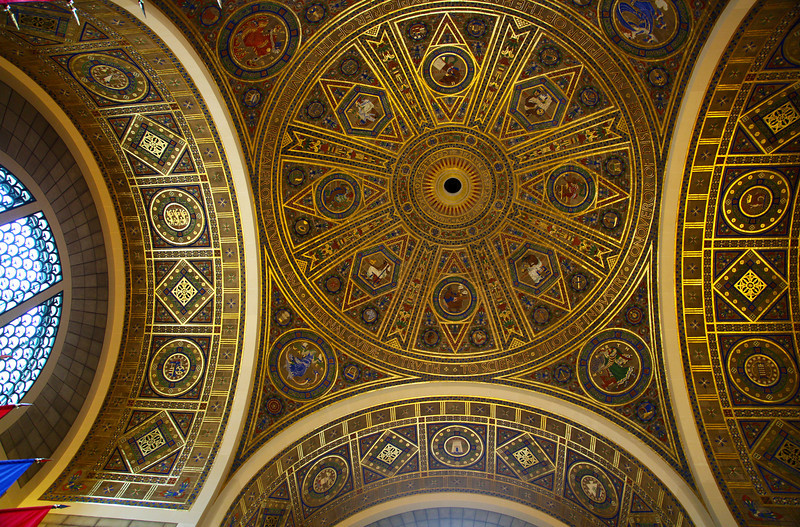 A view of the dome of the NAE commons hall