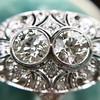 1.75ctw Edwardian Toi et Moi Old European Cut Diamond Ring  17