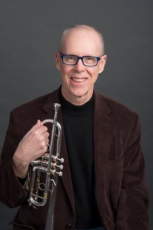 John Winkler with trumpet