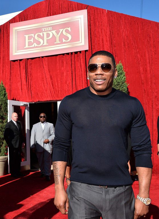 . Rapper Nelly attends The 2013 ESPY Awards at Nokia Theatre L.A. Live on July 17, 2013 in Los Angeles, California.  (Photo by Alberto E. Rodriguez/Getty Images for ESPY)