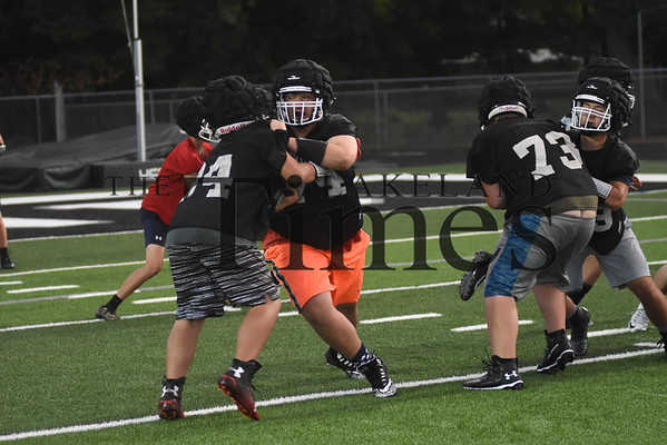 LUHS Football Practice August 7, 2019