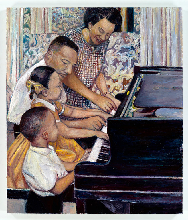 ". ""Drum Majors (Dr. Martin Luther King Jr. and Family),\"" a 2008 painting, is included in \""Keith Mayerson: My American Dream.\"" It is one of the summer exhibitions at Museum of Contemporary Art Cleveland. For information, call 216-421-8671 or visit mocacleveland.org. (Courtesy of Museum of Contemporary Art Cleveland)"