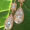 1.51ctw Diamond Mosaic OEC Dangle Earrings 19