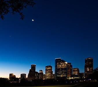 Houston Skyline - Sunrise  7-19-17