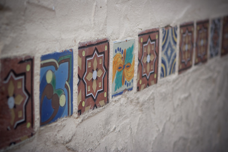Tiles that decorate the catalina harbor