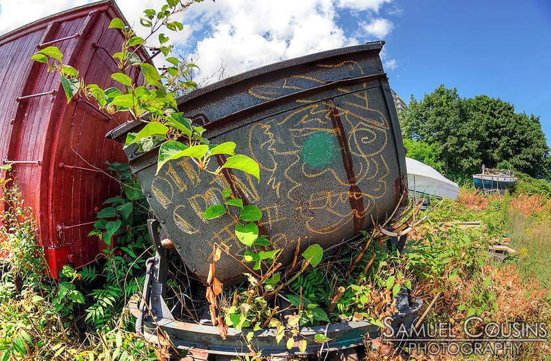 Graffiti at the Narrow Gauge Railroad,