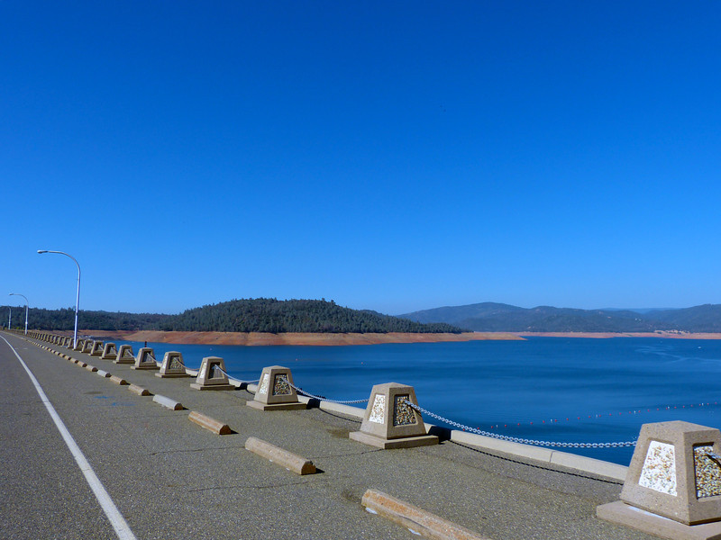 On top of the dam on Oroville Dam Rd.