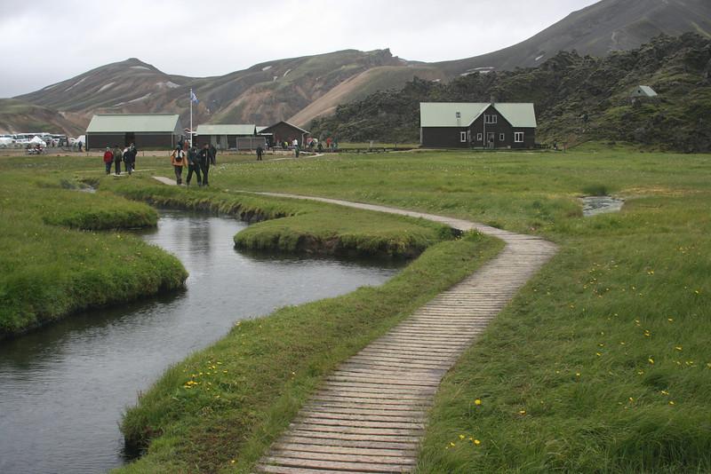 It was rainy at Landmannalaugar.