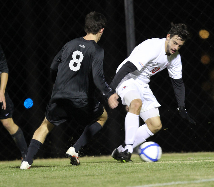 Number 15, Jovan Ivanovich, battling for the ball.