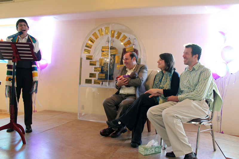 Rabbi Rachel talks about this joyous moment (photo by Jordan Fifer)