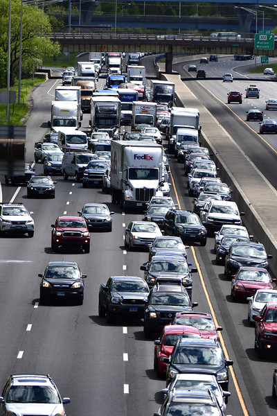 5/15/2019 Mike Orazzi | Staff Traffic on I84 Eastbound in Southington after a multi-vehicle crash Wednesday afternoon.