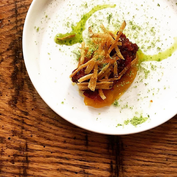 Butternut_squash__beef_tendon__crispy_leeks._Tonight_s_amuse_to_thank_guests_for_choosing_Loka..jpg
