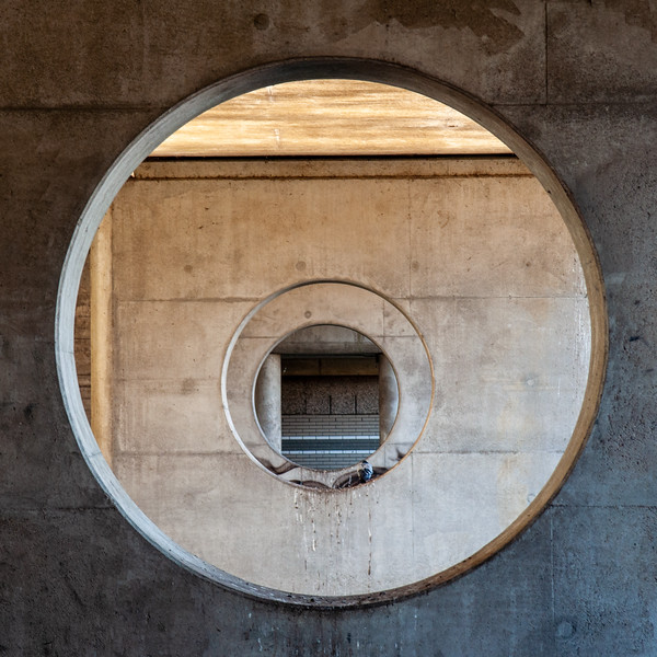 Concrete port holes