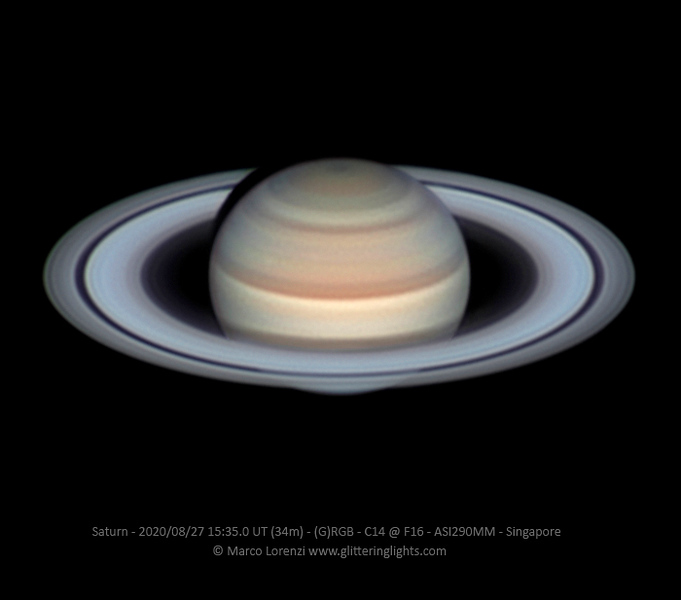 Saturn on August 27, 2020