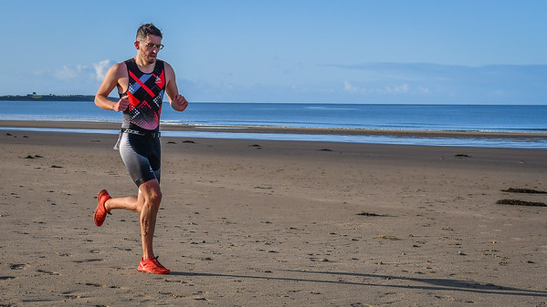 Harlech Aquathlon - Beach Run After Turnaround
