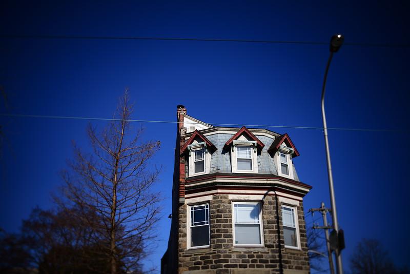 Red Peaks, Blue Sky---Philadelphia, PA