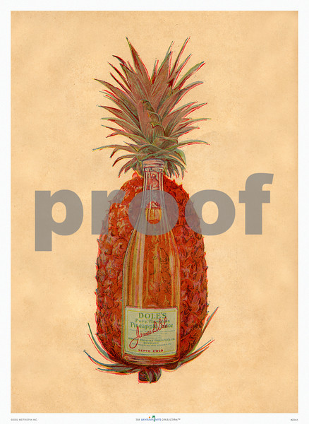 224: Dole Pineapple Juice Advertisement. Ca. 1918. (PROOF watermark will not appear on your print)