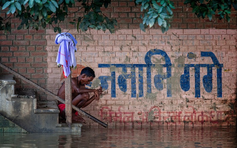 Early Morning Bathing by the Ganges, Varanasi, India