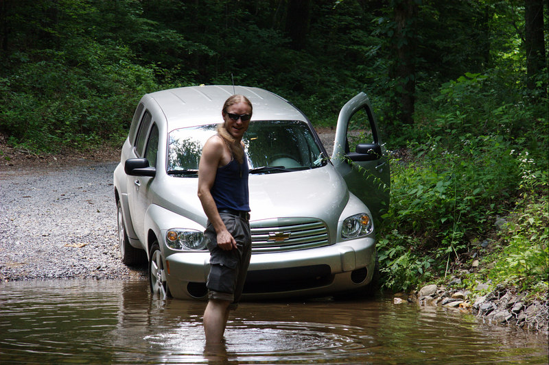 Yep, better to not risk taking the car across this water.