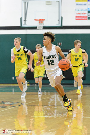 Tigard High School Varsity Boys Basketball vs West Linn