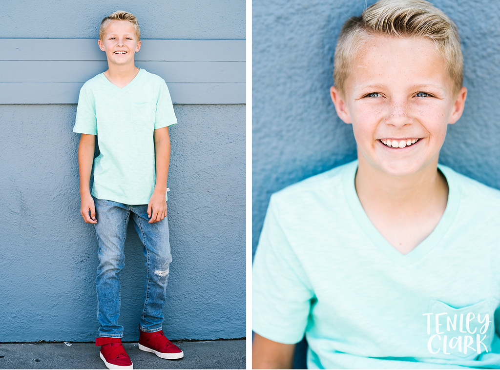 Bay Area playful, editorial kids model headshot portfolio session in San Mateo by Tenley Clark Photography