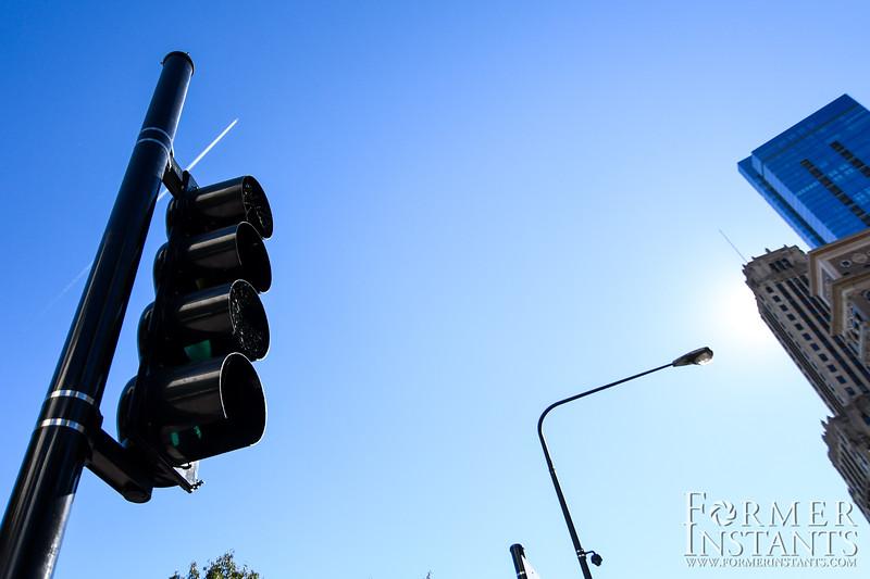 Spider Web in Traffic Light