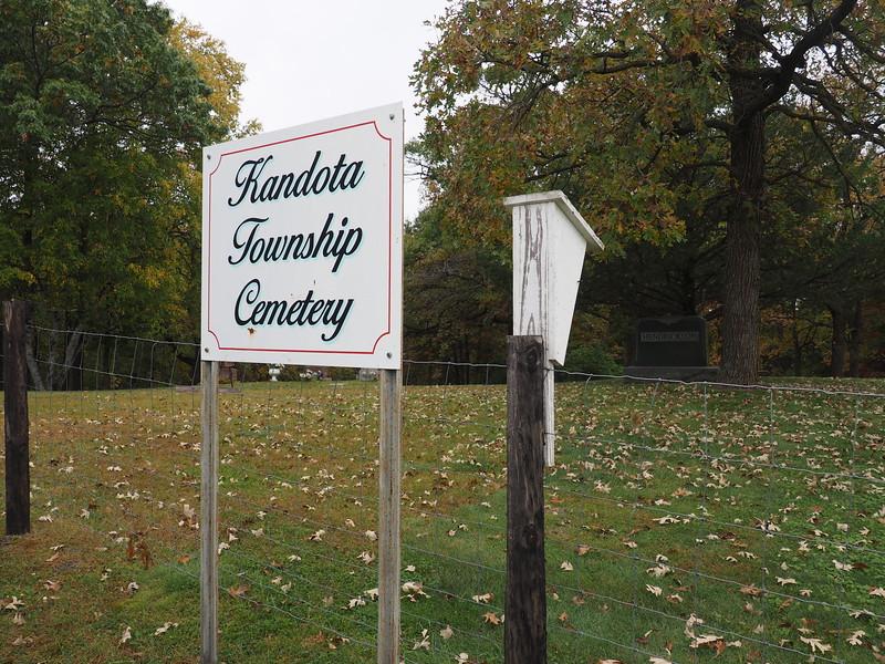 Kandota Township Cemetery, next to the town hall