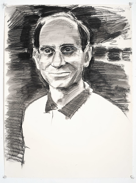 Portrait study - Alan A; charcoal, 22 x 30 in, 1997
