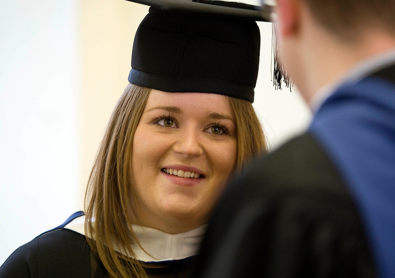 5/1/2012. News. Free to use image. Waterford Institute of Technology (WIT) conferring ceremony. Pictured is Joanne Kelly from Tullamore who graduated Bachelor of Science in Architectural Technology. Photo Patrick Browne