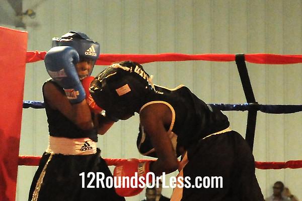 Bout 9 Derrick King, Zelma George/Empire Boxing -vs- Khalil Abdullah, Cory Fight Club 80 lb Bantam