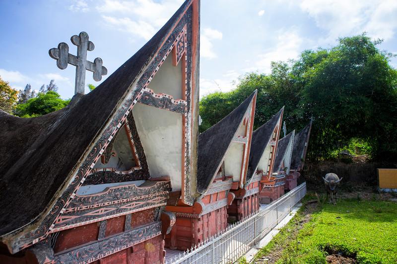 A Batak cemetery on Samosir Island, Lake Toba