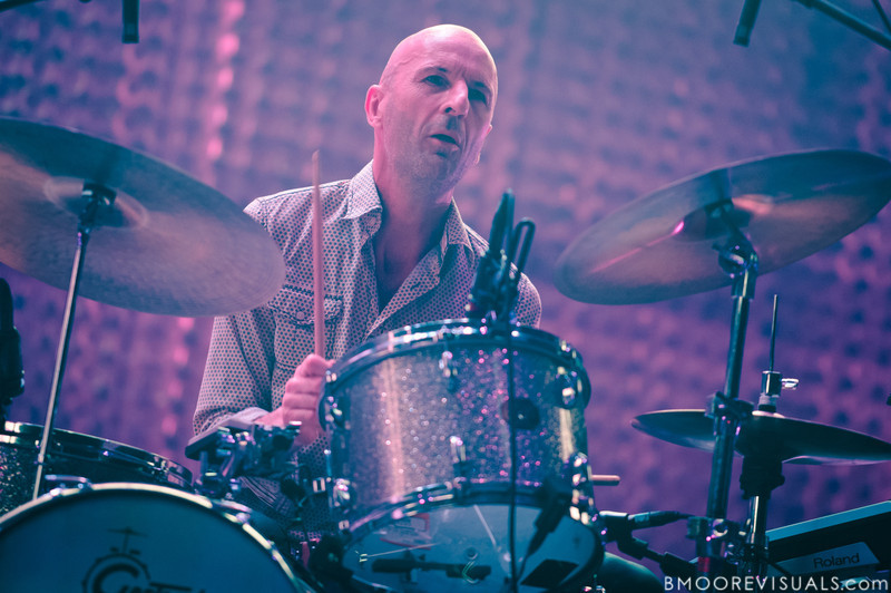 Clive Dreamer performs with Radiohead on February 29, 2012 at Tampa Bay Times Forum in Tampa, Florida