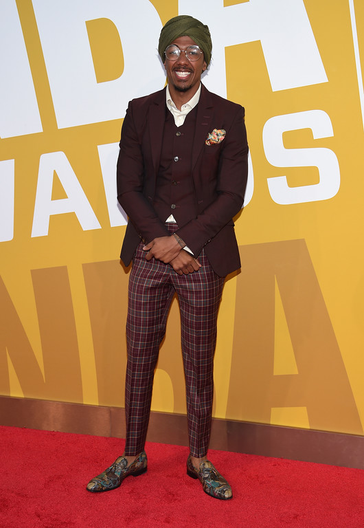 . Nick Cannon arrives at the NBA Awards at Basketball City at Pier 36 on Monday, June 26, 2017, in New York. (Photo by Evan Agostini/Invision/AP)