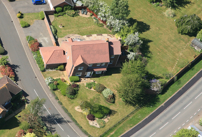 May 2011 Aerial photo of Spaldwick_5684331330_o.jpg