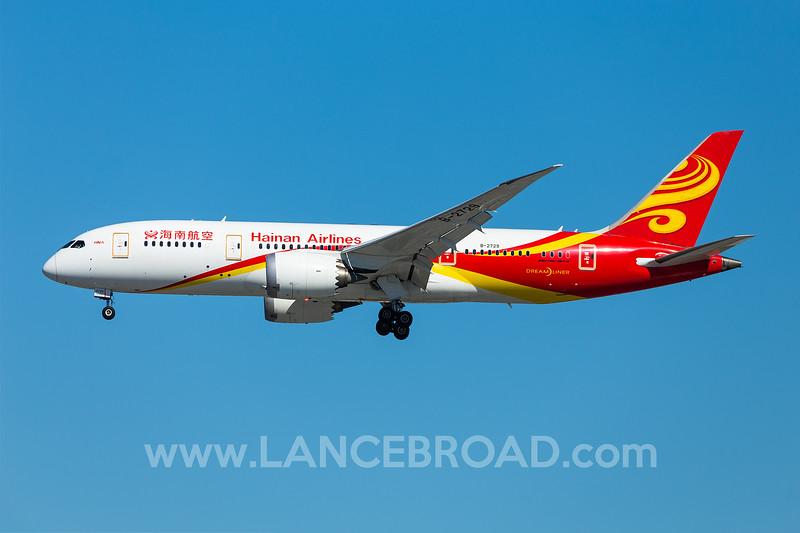 Hainan Airlines 787-8 - B-2729 - LAX