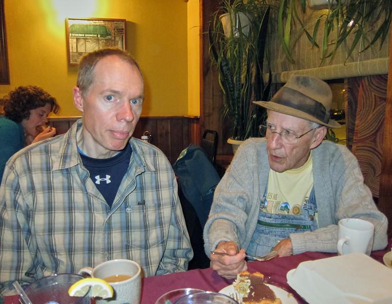 FL, Larry Lebin, at the Bullfrog restaurant, Williamsport PA. Nov 18 2012
