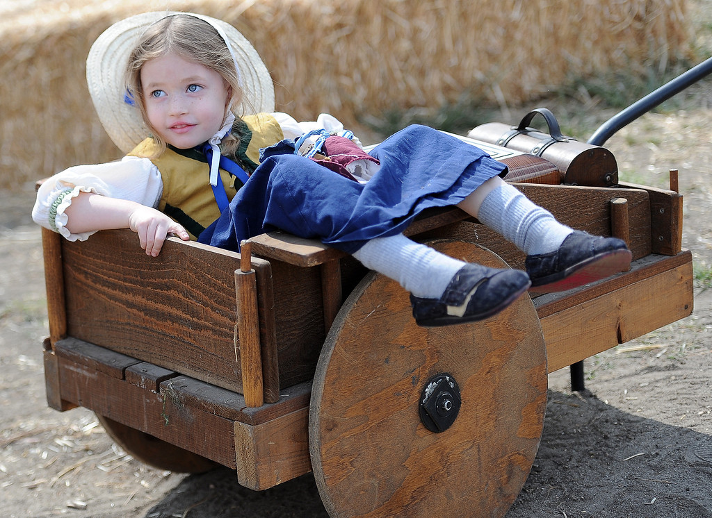 . 4 year-old Meikah Connors of Long Beach during Opening day of the Renaissance Pleasure Faire as many dress in period clothing at Santa Fe Dam Recreation Area in Irwindale, Calif., on Saturday, April 5, 2014. 