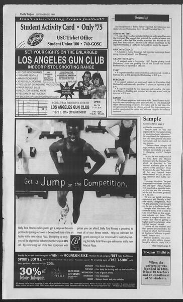 Daily Trojan, Vol. 129, No. 16, September 20, 1996