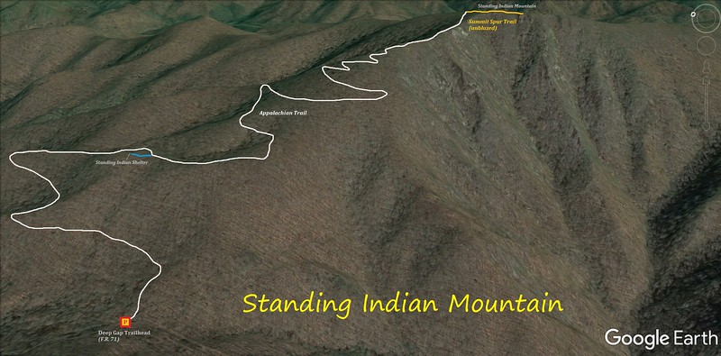 Standing Indian Mountain Hike Route Map