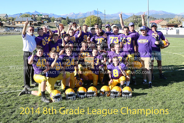October 4, 2014 8th Grade Footbal League Championship Bayfield Wolverines vs Cortez Panthers