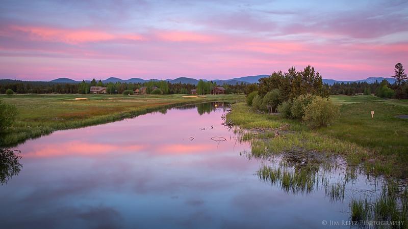 Pink Sky - at Sunriver, Oregon