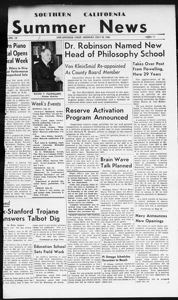 Summer News, Vol. 1, No. 12, July 22, 1946