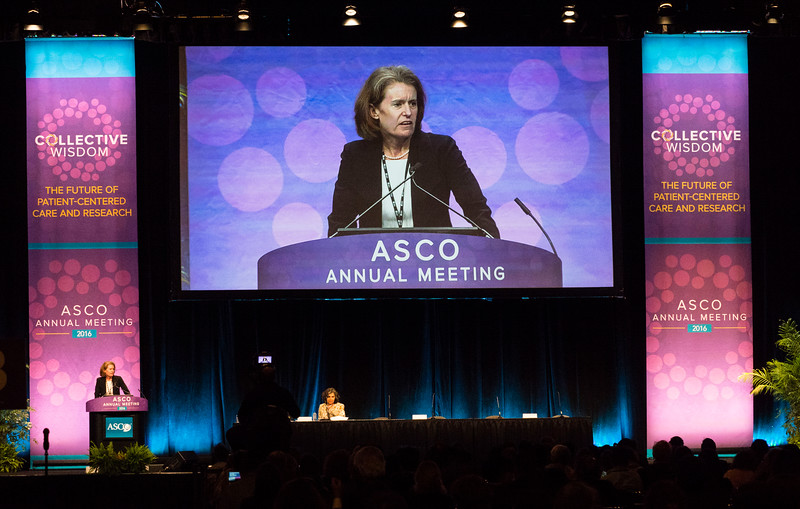 Elizabeth Ann Mittendorf, MD, PhD, speaks during Breast Cancer? Triple-Negative/Cytotoxics/Local Therapy Oral Abstract Session