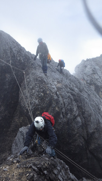 We are continuing on the ridge towards the summit…