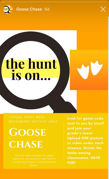 Virtual Goose Chase - Spirit Week
