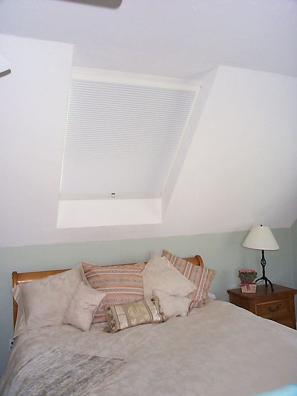 SkyRise Skylight shades in bedroom