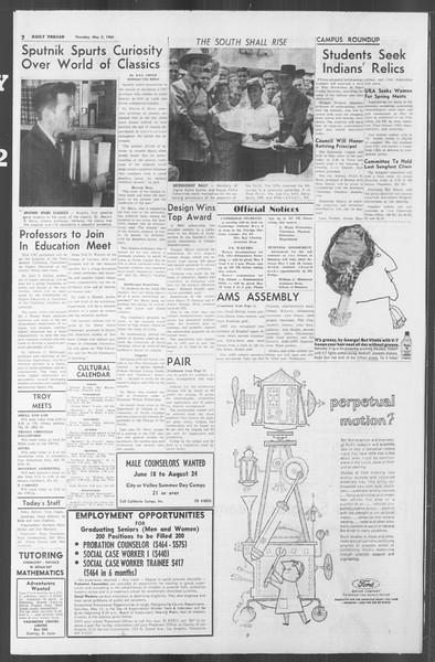 Daily Trojan, Vol. 53, No. 118, May 03, 1962